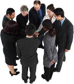 corporate team-building group